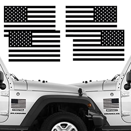 Reflective Subdued American Flag Stickers 2 Pairs Bundle 3 quot  X 5 quot   Tactical Military Flag 95391cd5b04