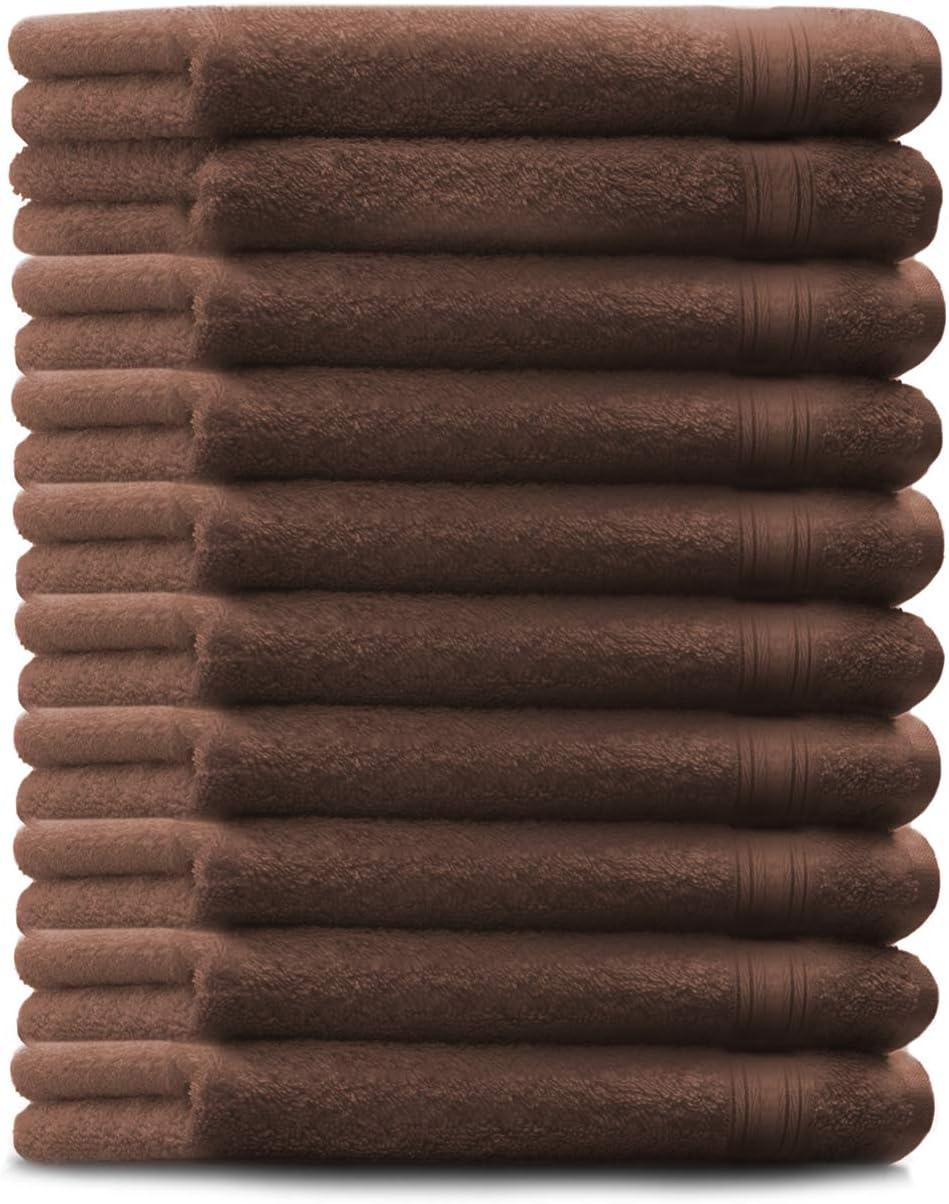 Betz Lot de 10 Serviettes dinvit/é Taille 30 x 50 cm 100/% Coton qualit/é 600g//m/² Gold Couleur Noisette