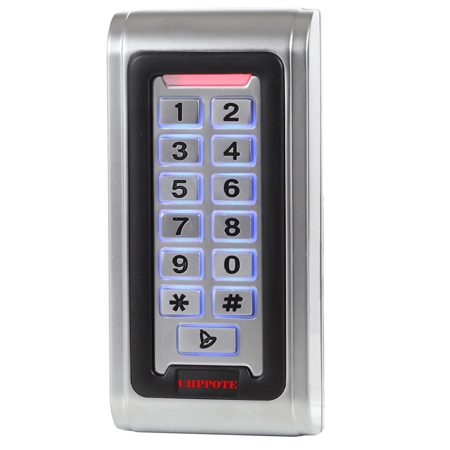 UHPPOTE Waterproof IP68 Metal Case Stand-Alone Access Control Keypad with Wiegand 26 bit Interface for 125khz RFID Card by UHPPOTE