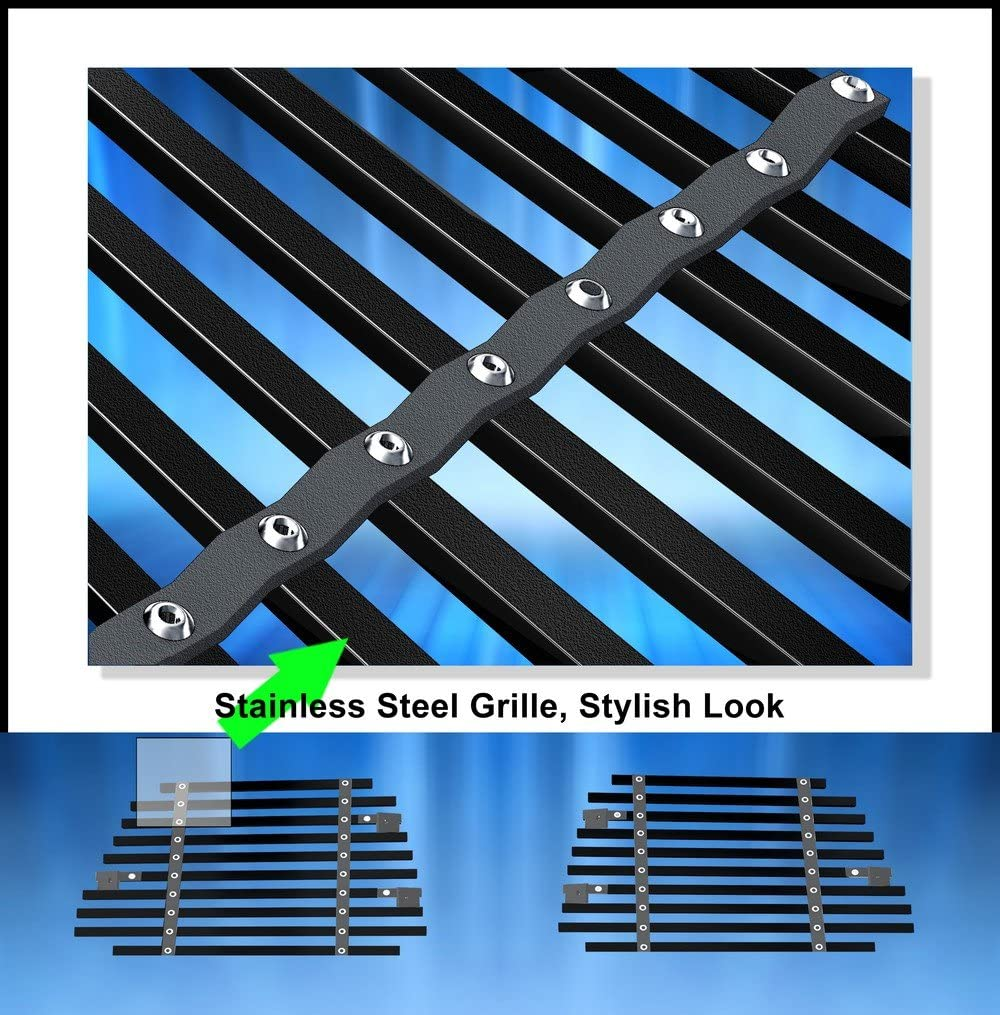 Off Roader Black Stainless Steel eGrille Billet Grille Grill for 07-14 Chevy Tahoe//Suburban//Avalanche Bumper Insert