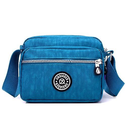 Outreo Bolsos de Mujer Bolso Bandolera Ligero Bolsas de Deporte Impermeable Moda Bolsos Casual Pequeña para Escuela Bolsas de Viaje