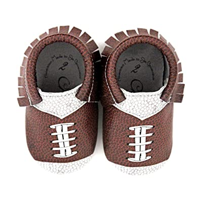 e16a9c7154c Football Design Team Colors Moccasin Size 1 3-6 Month 100% American leather  moccasins