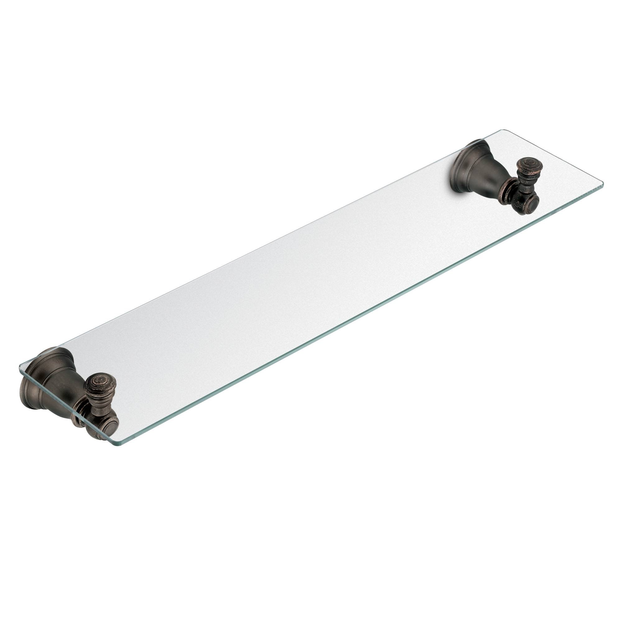 Moen YB5490ORB Kingsley 20-Inch W x 5-Inch D Decorative Bathroom Vanity Glass Shelf,, Oil Rubbed Bronze by Moen