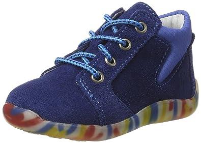 Ricosta Charlie, Chaussures Marche Bébé Garçon, Bleu (Tinte/Royal 151), 18 EU