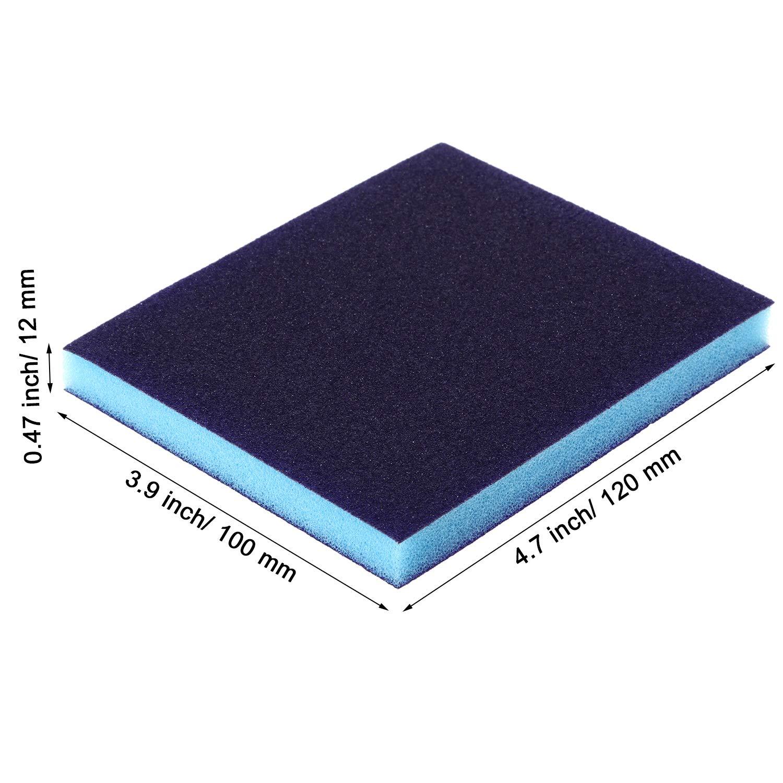 eBoot Sanding Sponge Grit Sanding Blocks Medium Grade Washable and Reusable Sand Sponge Kit 12 Pieces