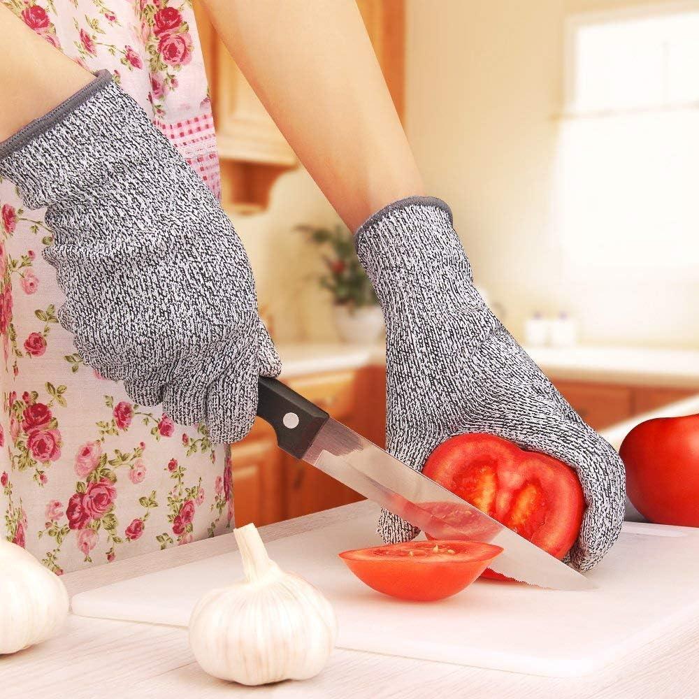 Guantes de Cocina Resistentes a los Cortes HPPE a Prueba de Cortes Resistentes a los Golpes Grado 5