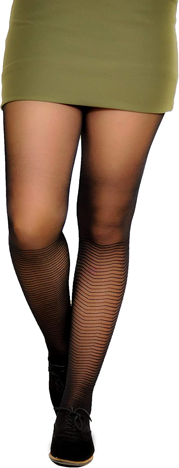 Older girls funky black pattern tights party everyday 9-15 years