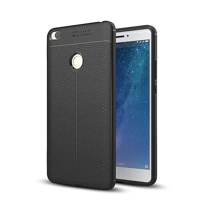 2 opinioni per Xiaomi Mi Max 2 Cover, SMTR Cuoio PU Slim materiale del silicone Ultra Sottile