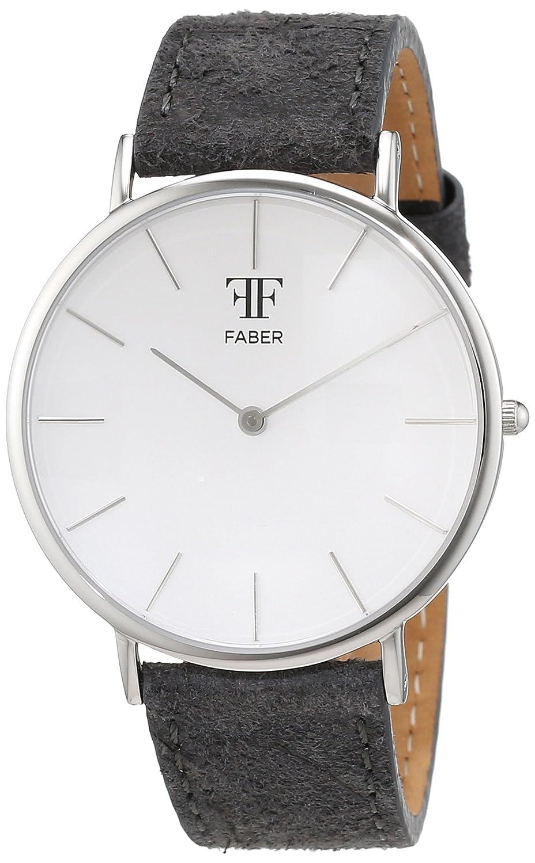 Faber Time Unisex-Armbanduhr Analog Quarz Leder F809SL