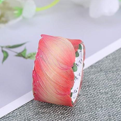 Amosfun P/étale Washi Tape Stickers D/écoratifs DIY P/étale Autocollants pour Scrapbooking Journal Emballage Cadeau