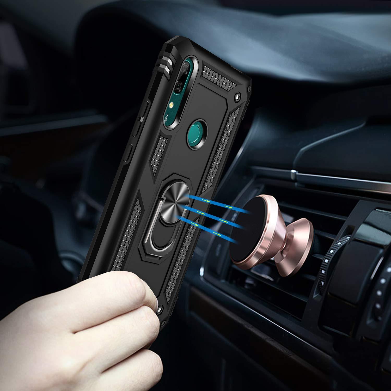 Azul Oscuro Funda Huawei P Smart Z,Caja El Soporte Incorporado A Prueba de Golpes Anti-Ara/ñazos Armadura Proteccion Cover Case para Huawei P Smart Z Y9 Prime 2019