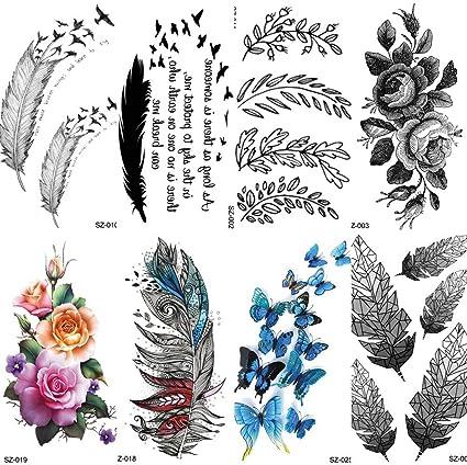 Etiqueta Engomada Del Tatuaje 1000 Piezas 10x6cm Falso Tatuaje ...