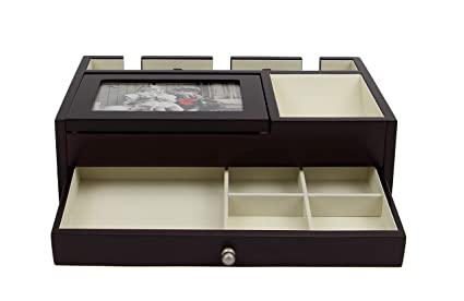 6712ff0ee Image Unavailable. Image not available for. Colour: Executive High Class  Wood Watch, Sunglasses,Cufflink Case & Ring Storage Organizer Men's Jewelry