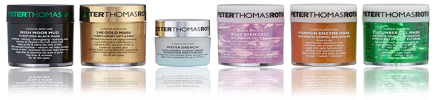 Mix, Mask & Hydrate 6-Piece Kit, Includes 5 Facial Masks for Every Skin Concern and Water Drench Cloud Cream Moisturizer
