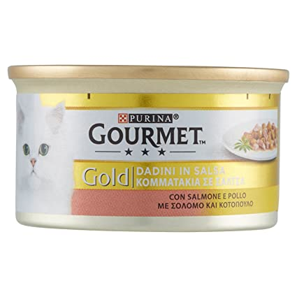 Gourmet - Gold Bocaditos en Salsa con Salmón y Pollo, 85 g