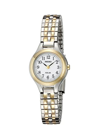 Amazon.com: Seiko Womens SUP100 Solar Expansion Two-Tone Stainless Steel Classic Watch: Watches