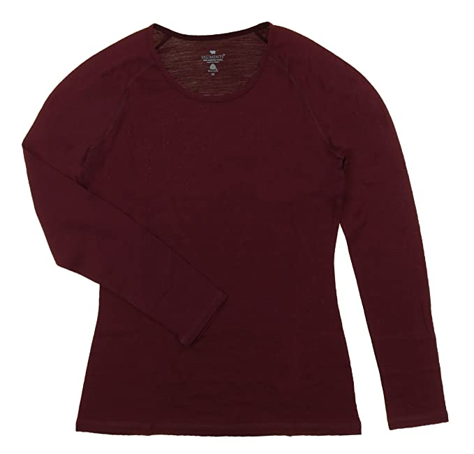 Segments Women's Scoop Neck Long Sleeve Merino Wool Shirts