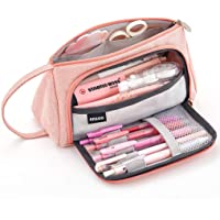 EASTHILL Pencil Case Big Capacity Pen Pouch Storage Bag Student Teens Girls Adults for School Office Organizer -Pink
