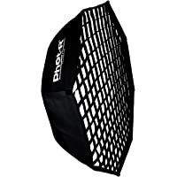 "Phot-R 95cm Umbrella Octagon Softbox + Honeycomb Grid Bowens S-Type Mount Speedring + Inner & Outer Diffusers 37"" Collapsible Portable + Case for Photo Studio Continuous LED Lighting Flash Light"