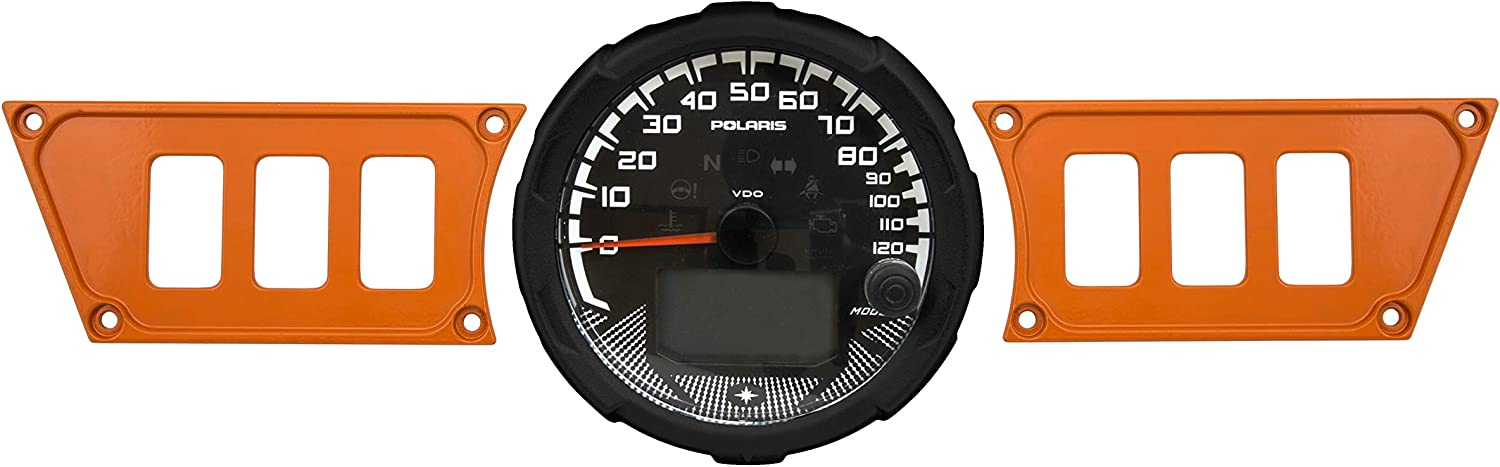STVMotorsports Orange Aluminum Dash Panel for 2015-2019 Polaris RZR 900 RZR S 900 – Made 100% in USA (no switches Included)