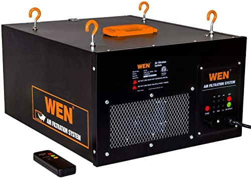 WEN 3410 3-Speed Remote-Controlled Air Filtration System 300 350 400 CFM