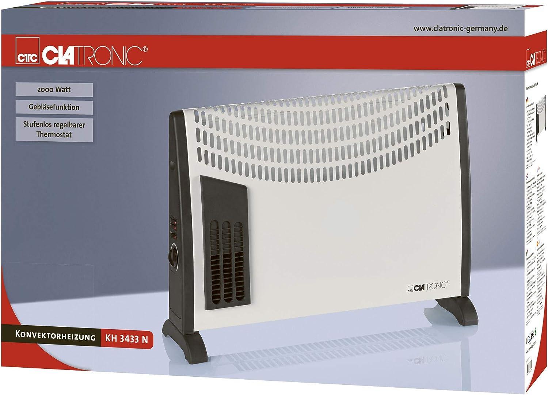 Clatronic KH 3077 - Convector con termostato regulable, 3 niveles ...