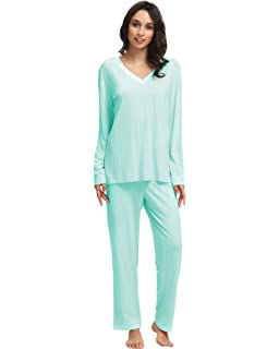 858d84c5d8e4 Latuza Women s Round Neck Sleepwear Long Sleeves Pajama Set at ...