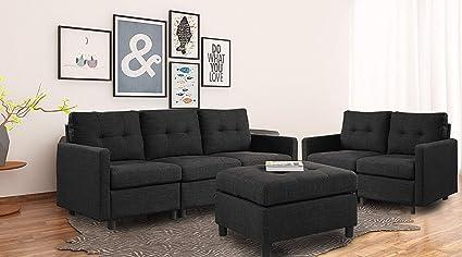 Amazon Com Bridge Modular Sectional Sofa Assemble 6 Piece Modular