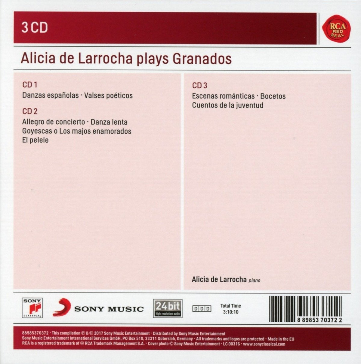 Alicia De Larrocha, Enrique Granados, __ - Alicia De Larrocha Plays Granados - Amazon.com Music