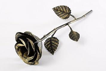 Deko Rose Gold Metal Rose Blumen Liebesgeschenke Valentinstag