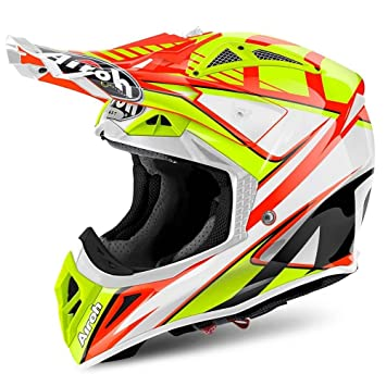 Airoh Aviator doble naranja Full Face casco MotoX