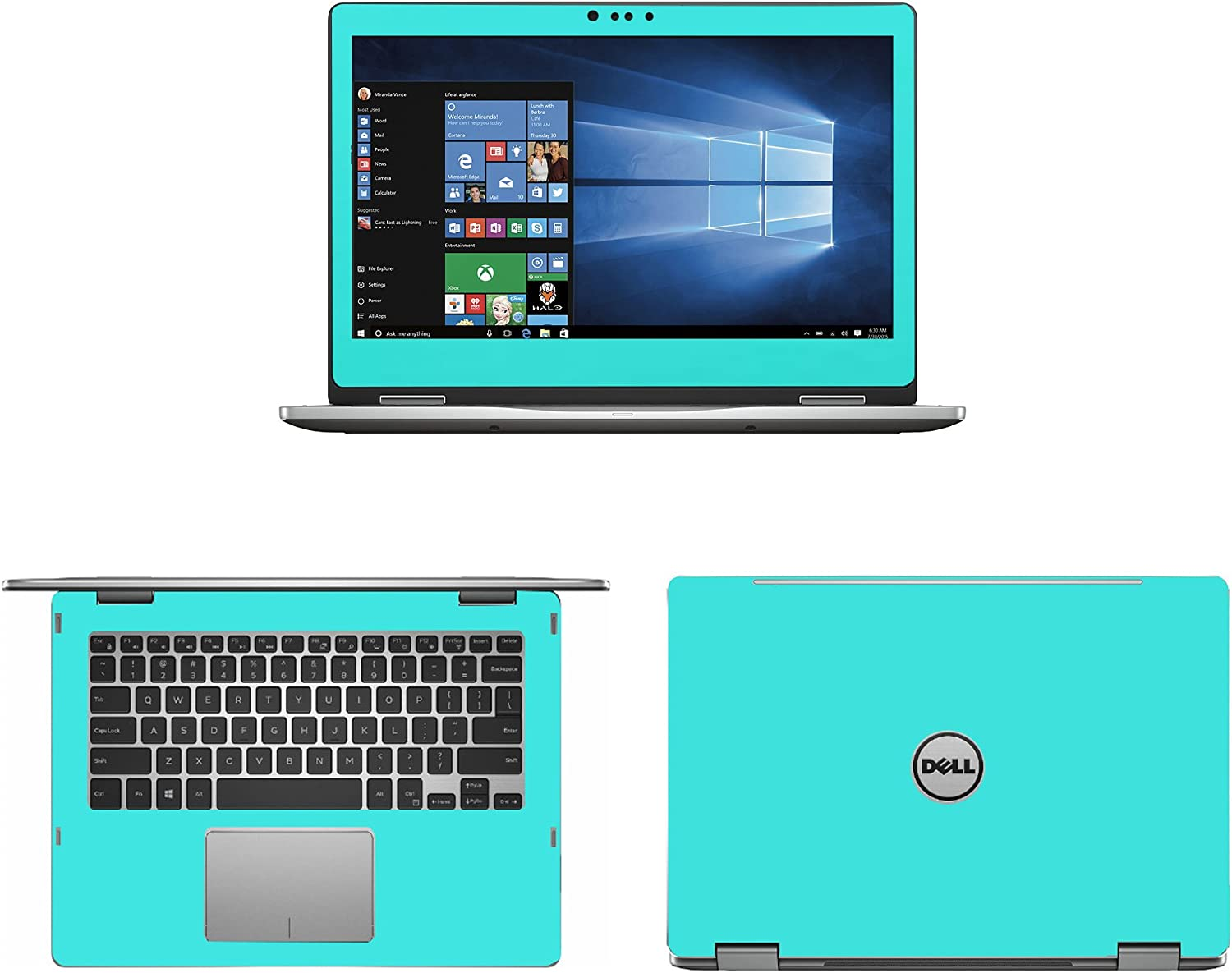 Mint Green skin decal wrap skin Case for Dell inspiron 13 5000 series 5368 5378 13.3