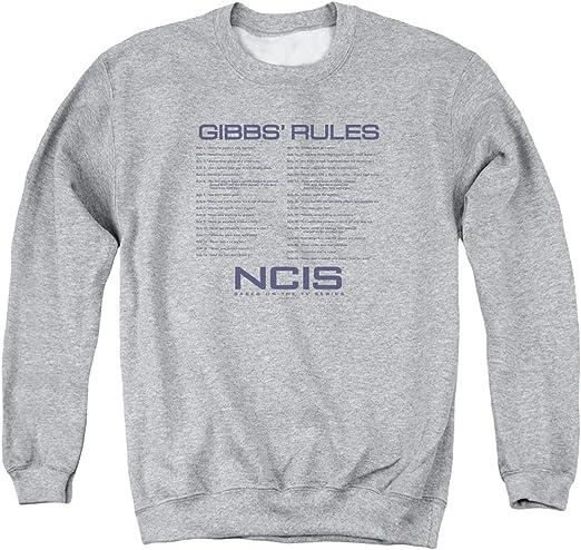 NCIS Gibbs Rules T Shirt Long Sleeve Sweatshirt Hoodie for Men and Women
