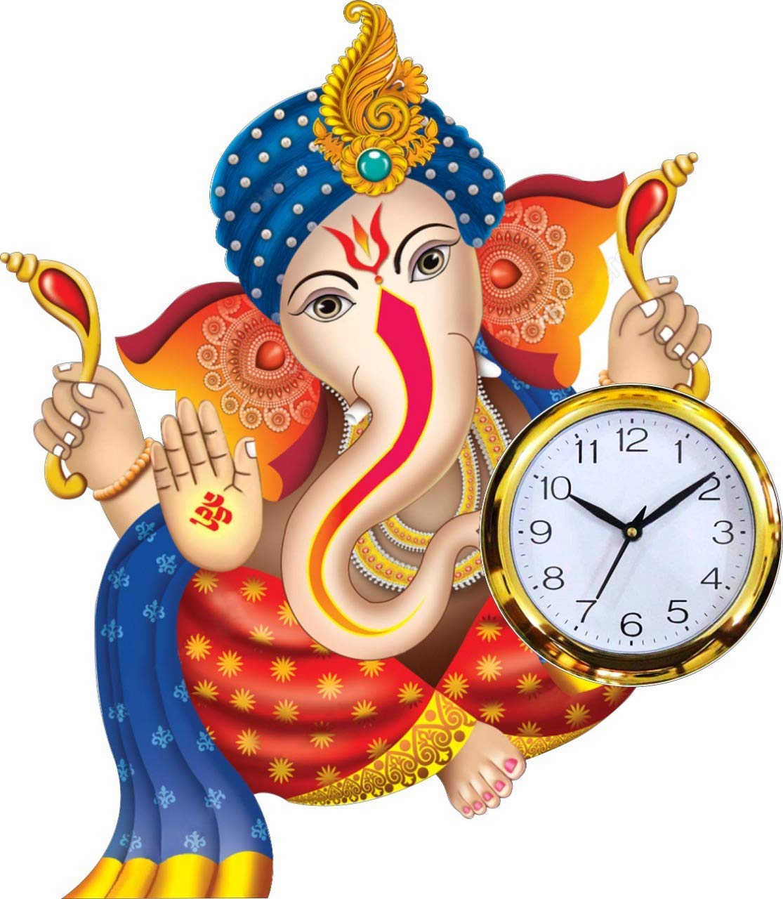 Lord Ganesha Analog Wall Clock For Homekitchenliving Roomofficesdrawing Room By Kk Craft