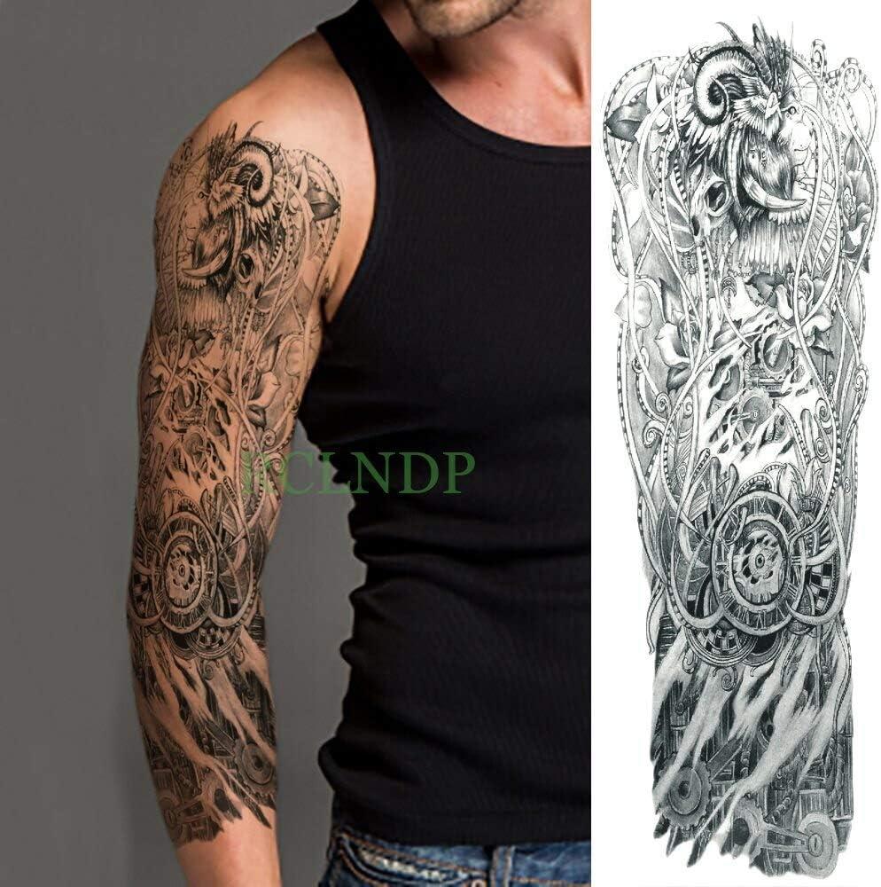 Yyoutop Impermeable e Tatuaje Pegatina Reloj pájaro Pagoda Brazo ...