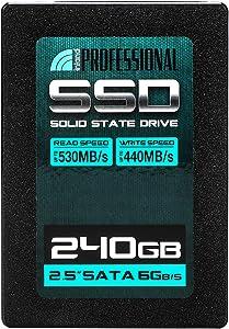 "Inland Professional 240GB SSD 3D NAND SATA III 6Gb/s 2.5"" 7mm Internal Solid State Drive (240G)"