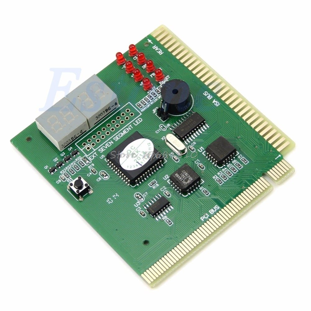SAUJNN 4Digit PC Computer Diagnostic Card Motherboard Mainboard Post Tester PCI ISA Z17 Drop Ship