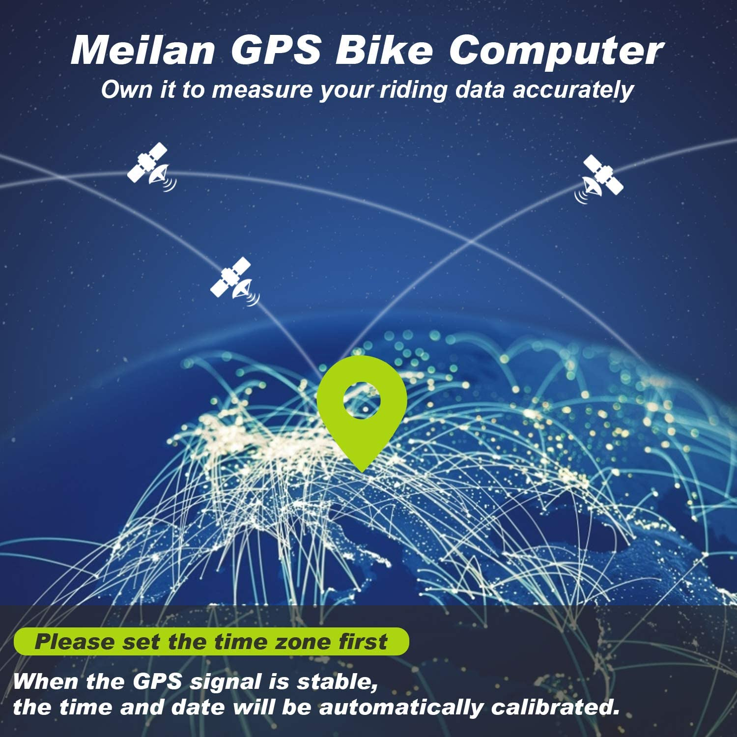 MEILAN M3 Mini GPS Bike Computer, Wireless Bike Odometer and Speedometer Bicycle Computer IPX5 Waterproof Cycling Computer with LCD Display for Outdoor Men Women Teens Bikers : Sports & Outdoors