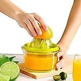 Manual orange Juicer Lemon Squeezer Citrus Juicers Extractor with Built-in Measuring Cup and Strainer, Juicing Tool 16 oz Cap