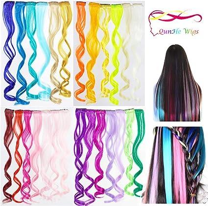 Trenta - Extensiones de pelo sintético de colores para ...