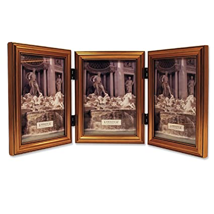 Amazon.com - Lawrence Frames Antique Gold Wood Triple 5x7 Picture ...