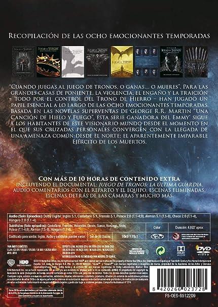 Juego De Tronos Temporada 1-8 Colección Completa DVD: Amazon.es ...