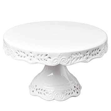 Amazon.com | Gracie China 10-Inch Victorian Rose Fine Porcelain Round Pedestal Cake Stand Off White Cake Stands  sc 1 st  Amazon.com & Amazon.com | Gracie China 10-Inch Victorian Rose Fine Porcelain ...