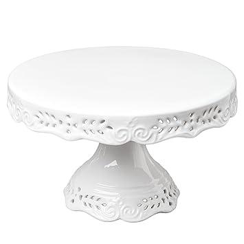 Gracie China 10-Inch Victorian Rose Fine Porcelain Round Pedestal Cake Stand Off White  sc 1 st  Amazon.com & Amazon.com | Gracie China 10-Inch Victorian Rose Fine Porcelain ...