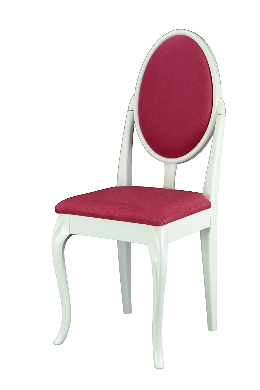 Bianco toelettacamera da letto sedia con gambe curve e rose