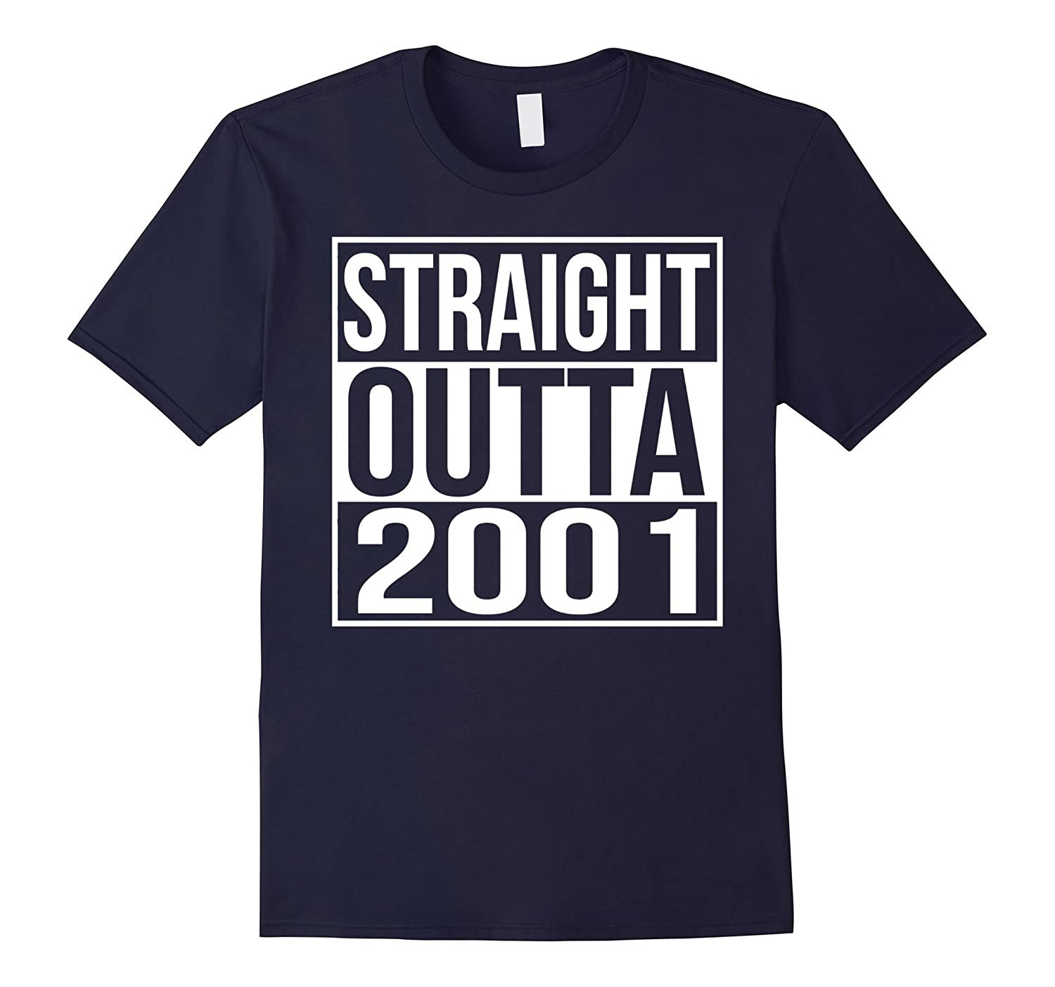 16th Birthday Gift T-Shirt Straight Outta 2001-TD