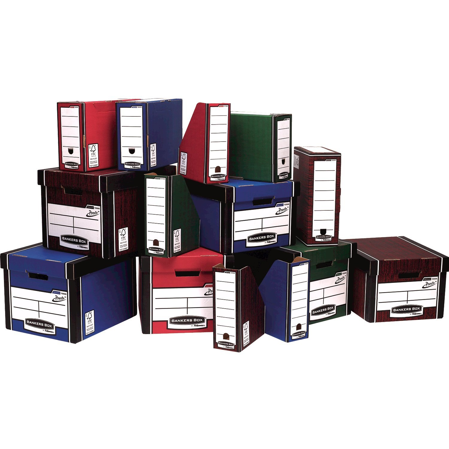 Bankers Box Red Presto Bankers Box Premium Storage Boxes Pack of 10 72607 NEW