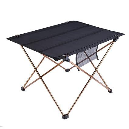 OUTAD mesa de camping/Picnic plegable y portátil de aleación de aluminio