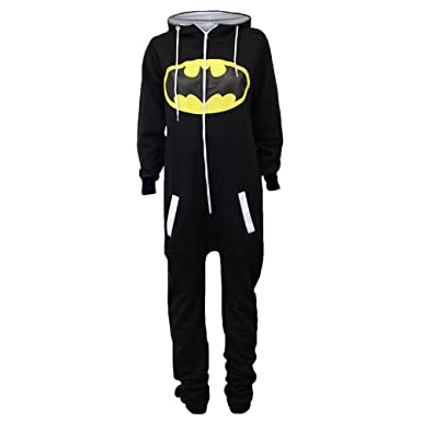 uk availability c5aa6 0eb41 Damen Overalls Batman Superman Body All In One Sommer Overall Mit Kapuze