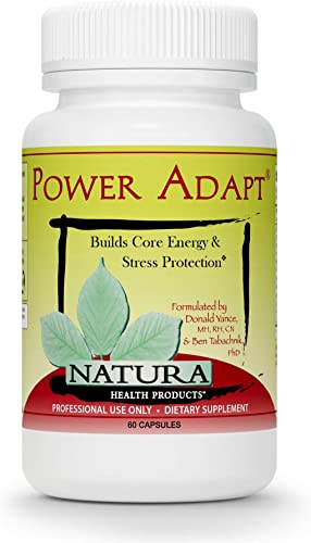 Natura Health Products – Power Adapt Energy and Stress Relief Supplement – Natural Herbal Extracts to Increase Stamina, Build Strength, and Promote Stress Protection – 60 Capsules